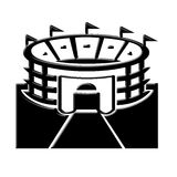 Icono del estadio Imágenes de archivo libres de regalías