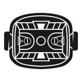 Icono del estadio del baloncesto, estilo simple ilustración del vector