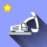 Icono del excavador Imágenes de archivo libres de regalías