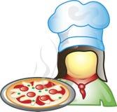 Icono del fabricante de la pizza stock de ilustración