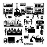 Icono del fabricante y del distribuidor ilustración del vector