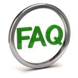 Icono del FAQ Fotografía de archivo libre de regalías