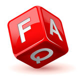 Icono del FAQ de los dados Imagen de archivo libre de regalías