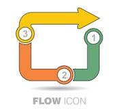 Icono del flujo del negocio Imagen de archivo libre de regalías