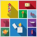 Icono del fuego artificial Imagen de archivo libre de regalías