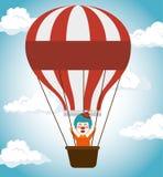 icono del funfair del festival de los airballoons del payaso stock de ilustración