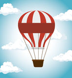 icono del funfair del festival del balón de aire libre illustration