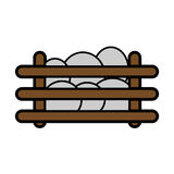 Icono del ganado del huevo Imágenes de archivo libres de regalías