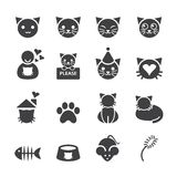 Icono del gato imagen de archivo libre de regalías