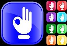 Icono del gesto ACEPTABLE Fotografía de archivo libre de regalías
