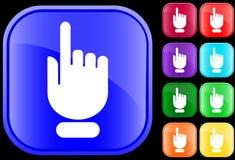 Icono del gesto de mano Imágenes de archivo libres de regalías