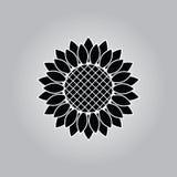Icono del girasol Fotografía de archivo libre de regalías