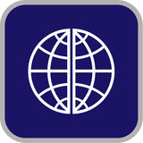 Icono del globo del vector Imagenes de archivo