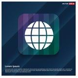 Icono del globo del mundo ilustración del vector