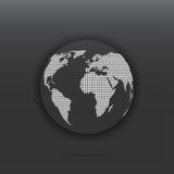 Icono del globo punteado Imágenes de archivo libres de regalías