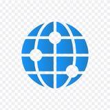 Icono del globo del vector del mundo Ejemplo del vector aislado en fondo transparente ilustración del vector