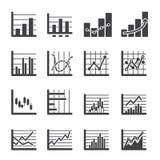 Icono del gráfico Fotos de archivo libres de regalías