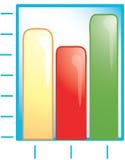Icono del gráfico de barra Fotos de archivo libres de regalías