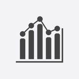 Icono del gráfico de negocio Fotografía de archivo