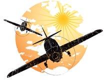 Icono del grunge de los aviones Fotos de archivo