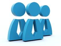 Icono del grupo de personas Imagen de archivo libre de regalías
