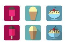 Icono del helado Fotografía de archivo