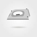 Icono del hierro de la ropa con la sombra Fotos de archivo libres de regalías