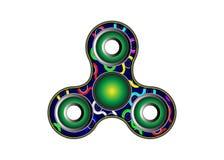 Icono del hilandero de la persona agitada - juegue para el alivio de tensión y la mejora de la capacidad de concentración Color m Imagen de archivo