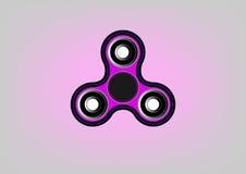 Icono del hilandero de la persona agitada - juegue para el alivio de tensión y la mejora de la capacidad de concentración Color r Imagen de archivo libre de regalías