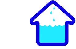 Icono del hogar de la casa de la inundación Imagen de archivo