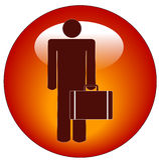 Icono del hombre de negocios Imagen de archivo libre de regalías