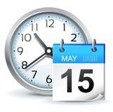 Icono del horario Foto de archivo