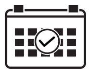 Icono del horario del evento en el fondo blanco Fotografía de archivo libre de regalías
