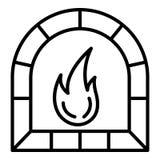 Icono del horno del alfarero, estilo del esquema ilustración del vector