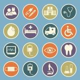 Icono del hospital Fotografía de archivo
