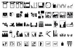 Icono del hotel 50 Fotografía de archivo libre de regalías