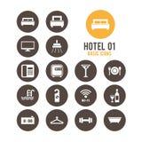Icono del hotel Ilustración del vector Foto de archivo libre de regalías