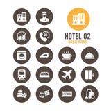 Icono del hotel Ilustración del vector Imágenes de archivo libres de regalías