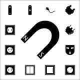 Icono del imán Sistema de iconos de la energía Iconos superiores del diseño gráfico de la calidad Muestras e iconos de la colecci ilustración del vector