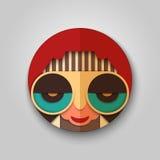Icono del inconformista de la moda en diseño de la máscara Imagen de archivo libre de regalías