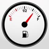 Icono del indicador de la gasolina del coche, vector Foto de archivo