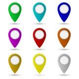 Icono del indicador del mapa símbolo de ubicación Imágenes de archivo libres de regalías