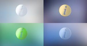 Icono del Info 3d Imagen de archivo