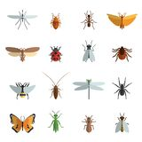 Icono del insecto plano ilustración del vector