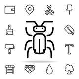 Icono del insecto sistema universal de los iconos del web para el web y el móvil stock de ilustración