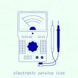 Icono del instrumento de medida eléctrico Ilustración del vector Fotos de archivo libres de regalías