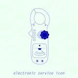 Icono del instrumento de medida eléctrico Ilustración del vector Imagen de archivo
