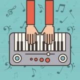 Icono del instrumento del piano Foto de archivo