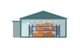 Icono del interior de Warehouse Fotografía de archivo