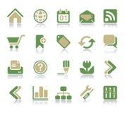 Icono del Internet y del Web Fotografía de archivo